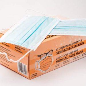 Páramentes sebészi szájmaszk szemüvegeseknek